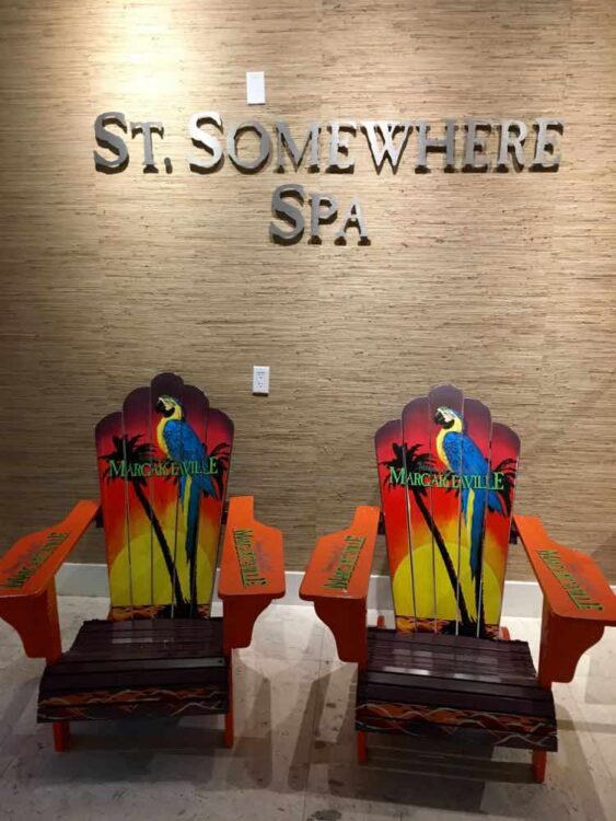 Margaritaville Beach Resort: St. Somewhere spa entrance