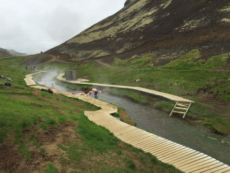 Geothermal river Hveragardi Iceland
