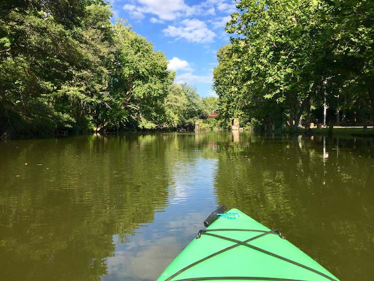 kayaking on Broad Creek, Delaware. Photo by Julie of FuninFairfaxVA.com