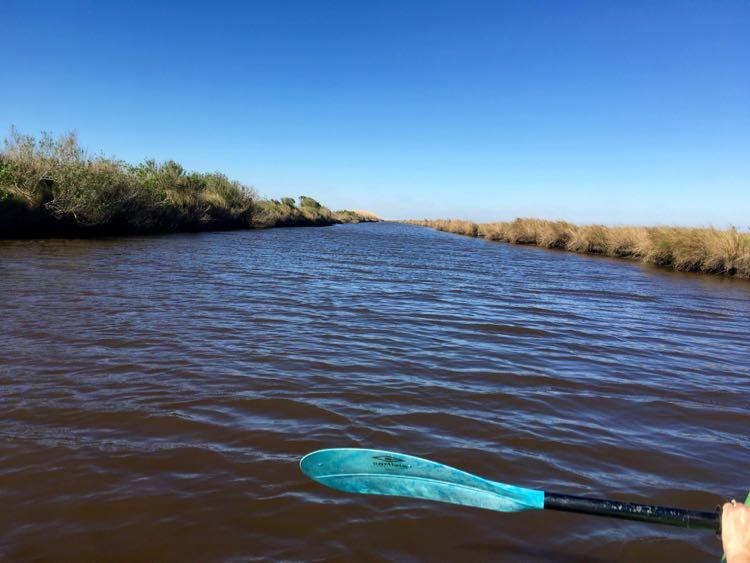 kayaking at Sea Rim State Park in Port Arthur, Texas