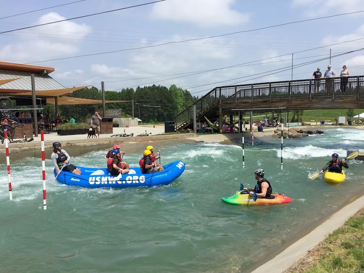 kayaking at USNWC in Charlotte, NC. Photo by Julie of FuninFairfaxVA.com