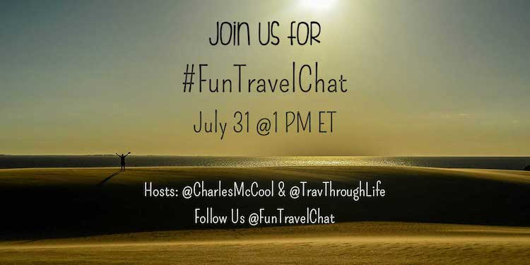 #FunTravelChat is a Twitter chat to promote travel happiness, inspire people to travel (more, cheaper, better, longer), and help create better travelers.