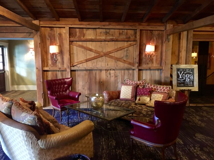 elegant and rustic lobby of Inn at Leola Village