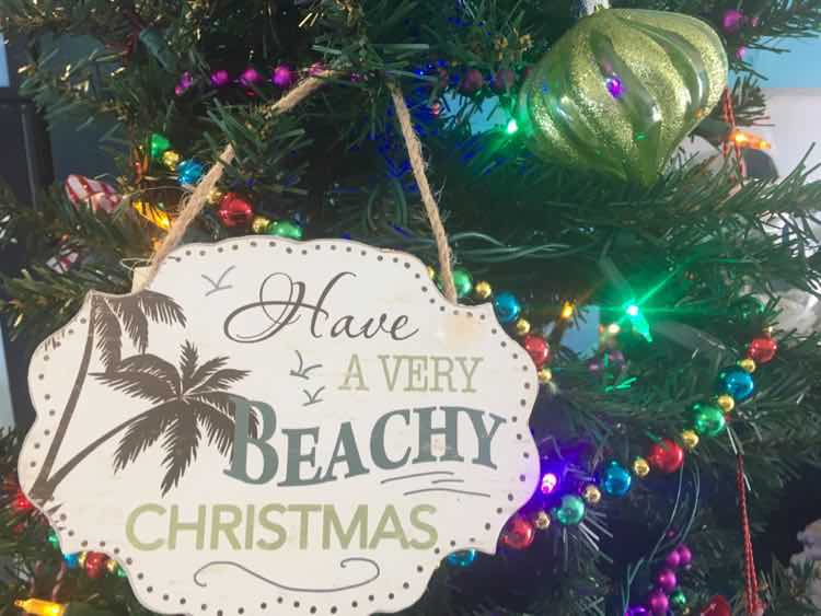 tropical Christmas decorations: Florida edition
