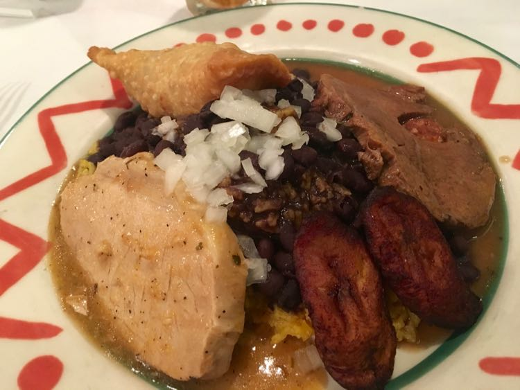 try the Cuban Combo at Columbia Restaurant, St Augustine Florida