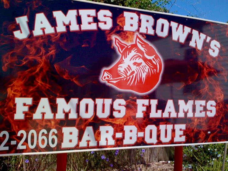 Local places to Eat in Florida: James Brown's Famous Flames in Avon Park