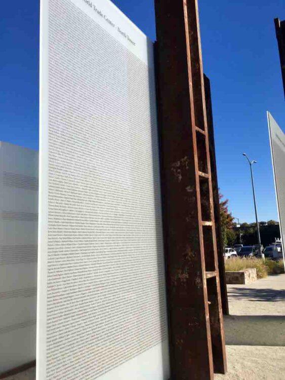 things to see in Napa California: 9/11 Memorial