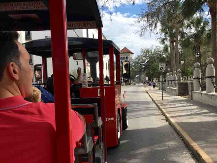 things to do in St Augustine Florida: Red Train Trolley Tours