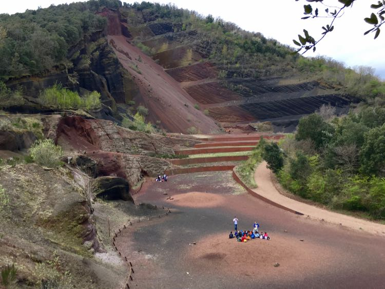 cool things to see in Costa Brava Spain: volcano hike. Article and photo by Charles McCool for McCool Travel