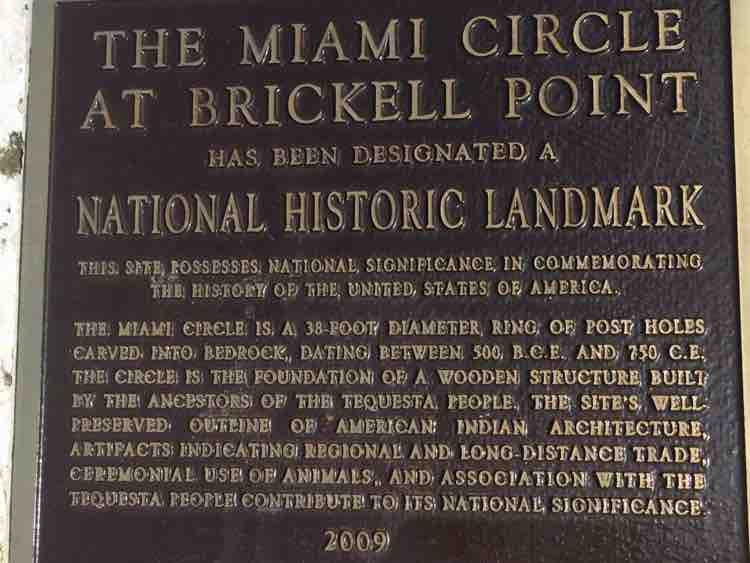 Miami Circle sign