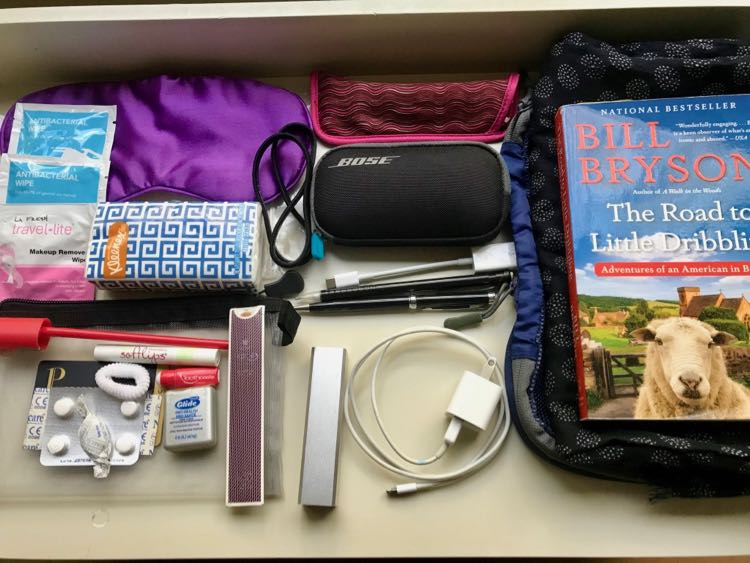 An Airplane Travel Kit includes all of the in-flight essentials for the plane