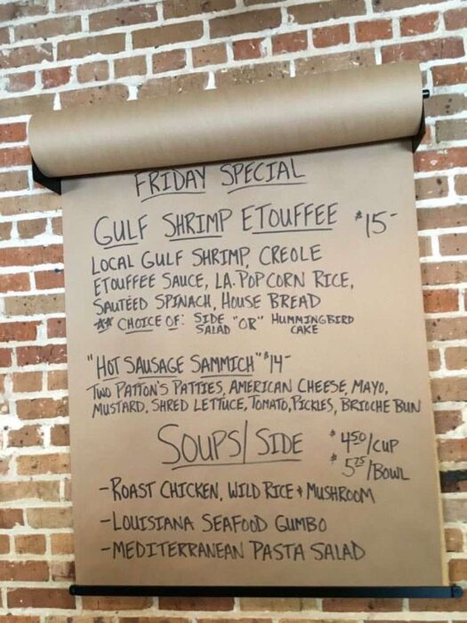 daily specials at Lola in Covington Louisiana