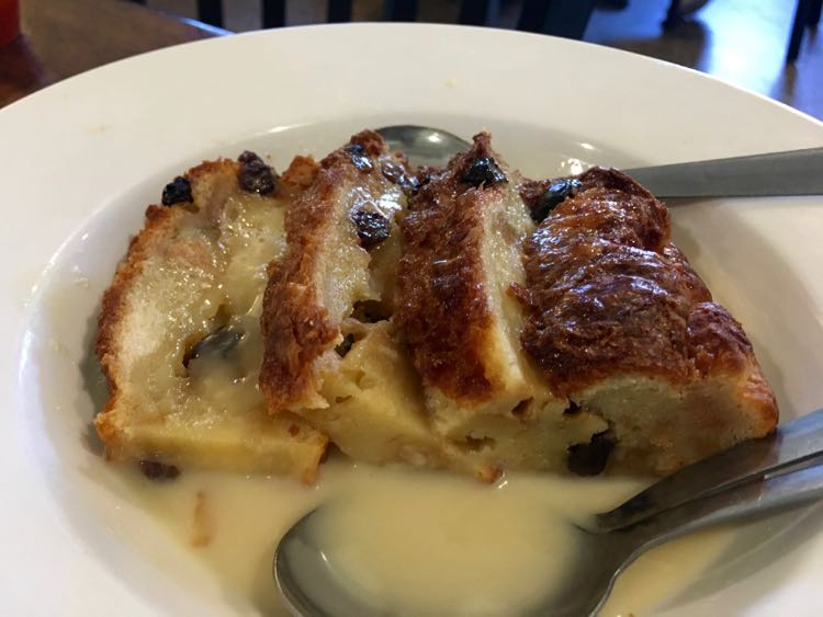 beautiful bread pudding at Spahr's