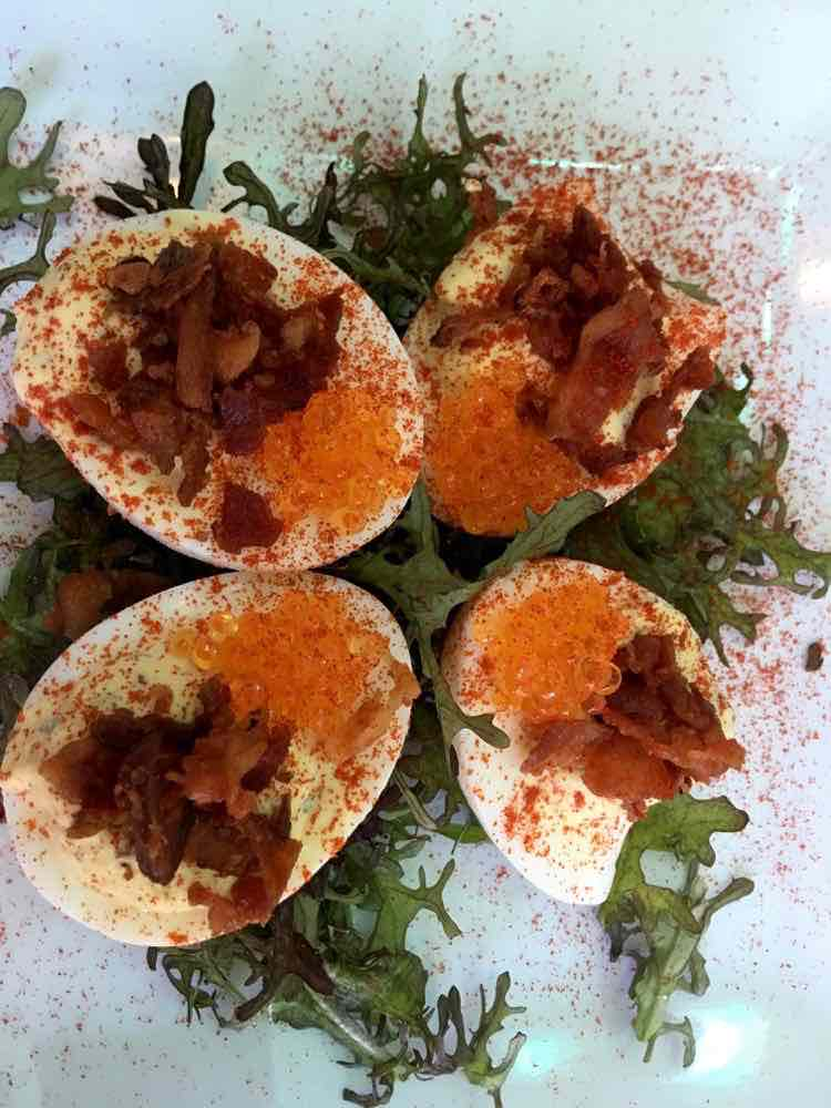 deviled eggs at The Noble South in Mobile AL