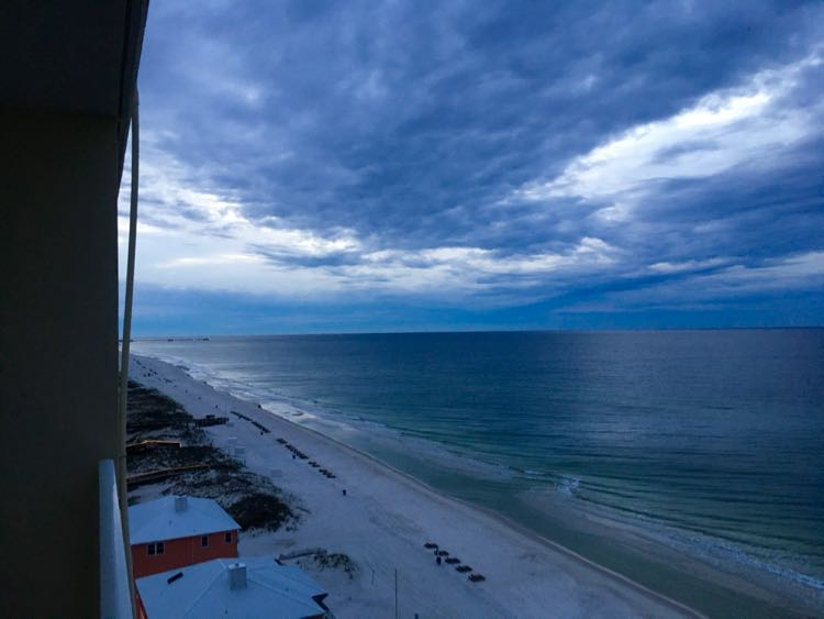 cloudy sunrise from Gulf Shores Alabama condo
