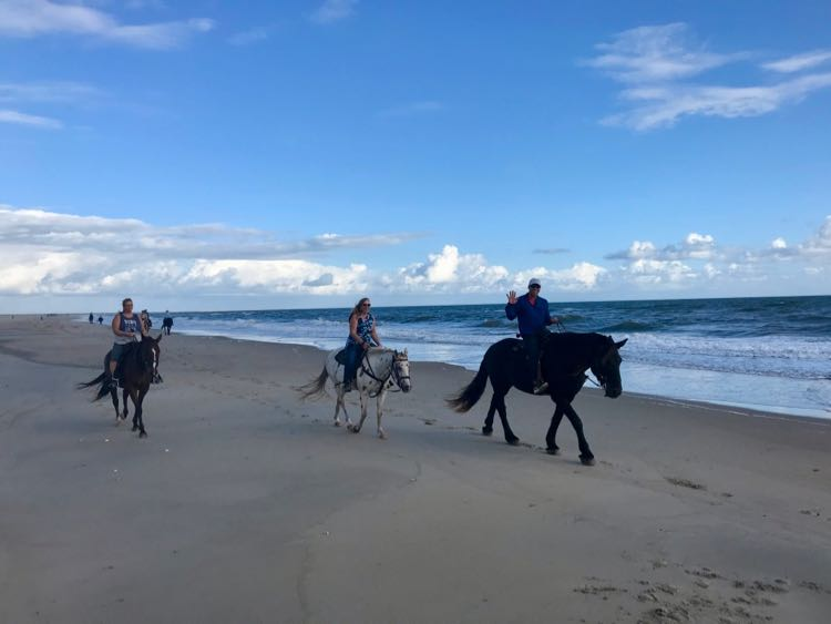 OBX beach horseback ride with Equine Adventures