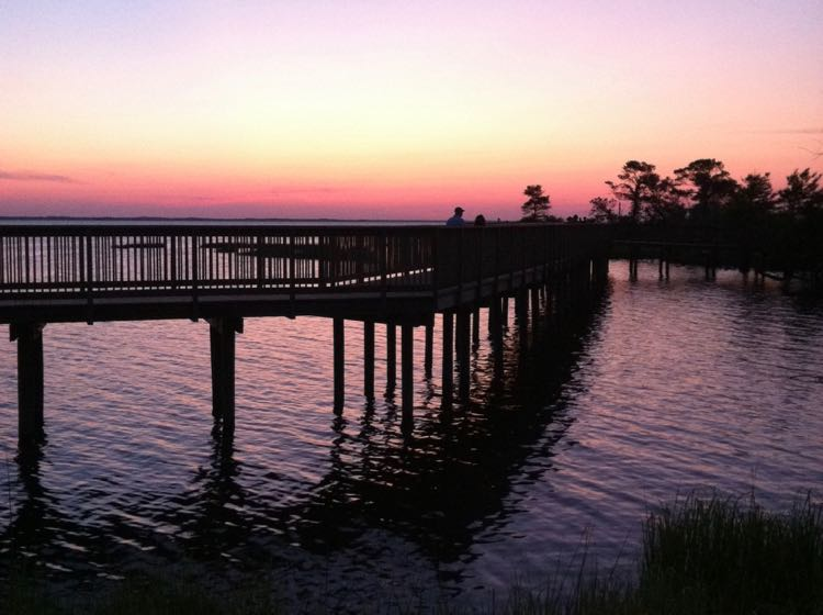 Sunset on the sound in Duck NC