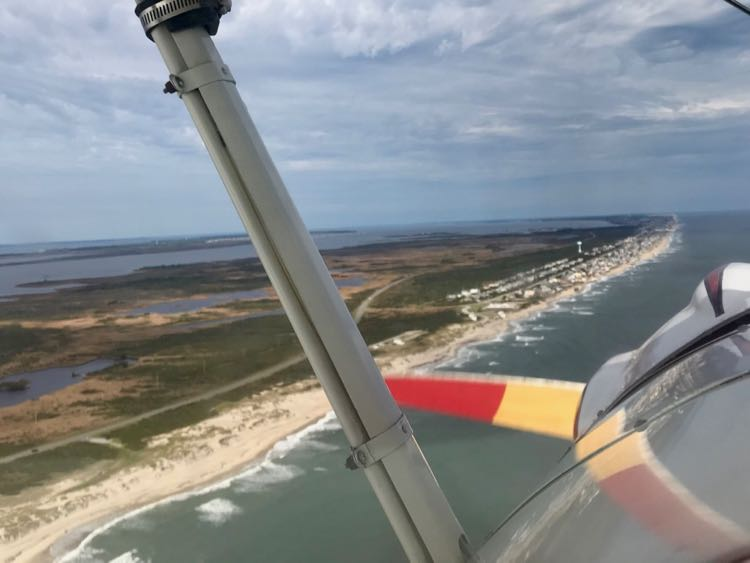 A flight with OBX Biplanes is a unique way to see the Outer Banks beaches
