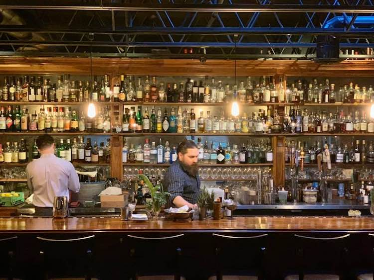elegant bar at The Alley Light in Charlottesville