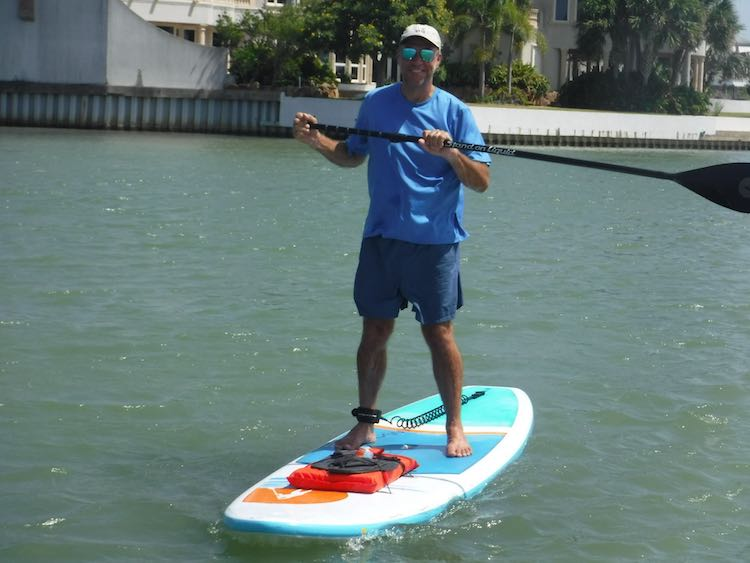 Charles McCool on SUP on South Padre Island