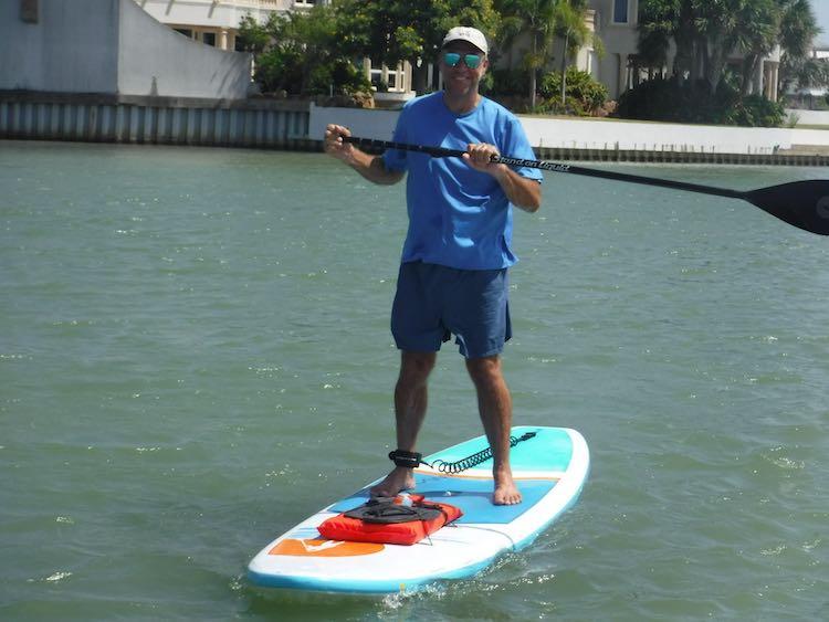 Charles McCool on SUP on South Padre Island