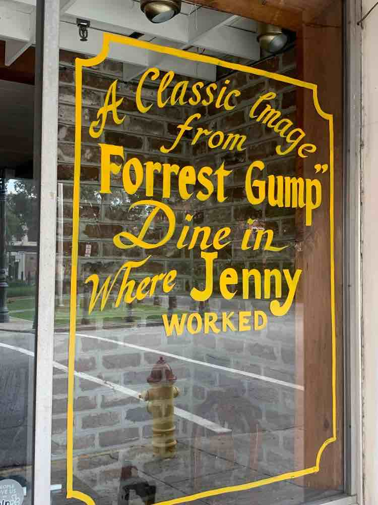 diner window from Forrest Gump