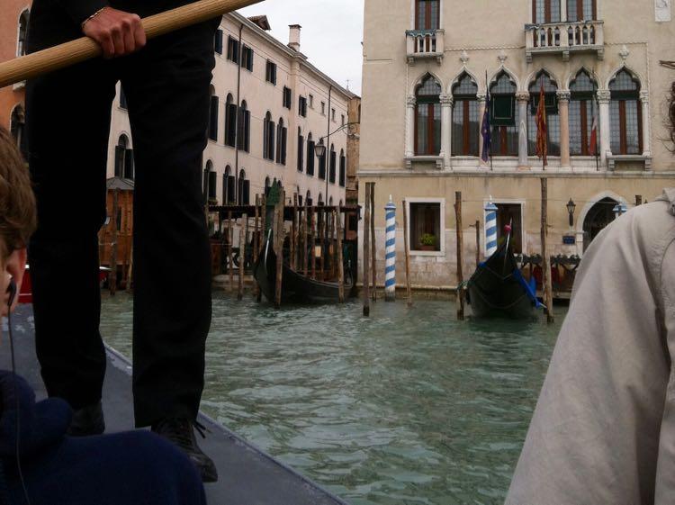 traghetto gondolier in Venice Italy