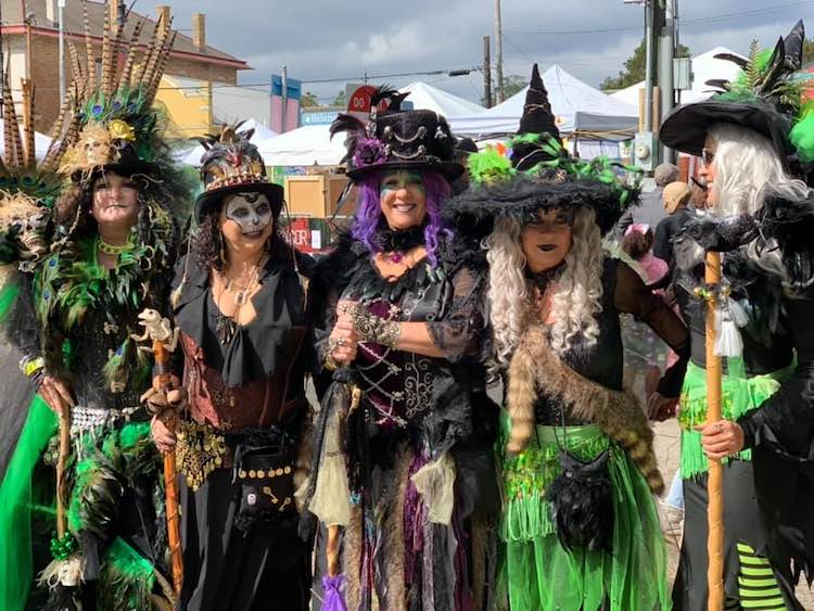 witches in costume at Rougarou Fest