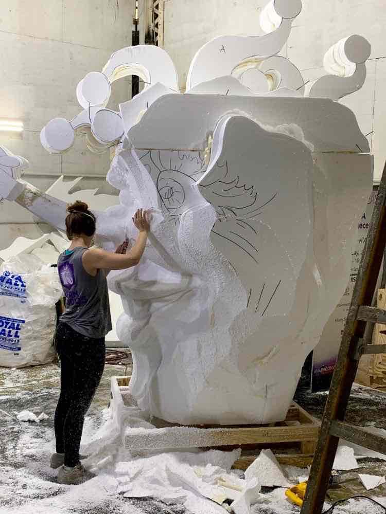 styrofoam sculpture at Mardi Gras World