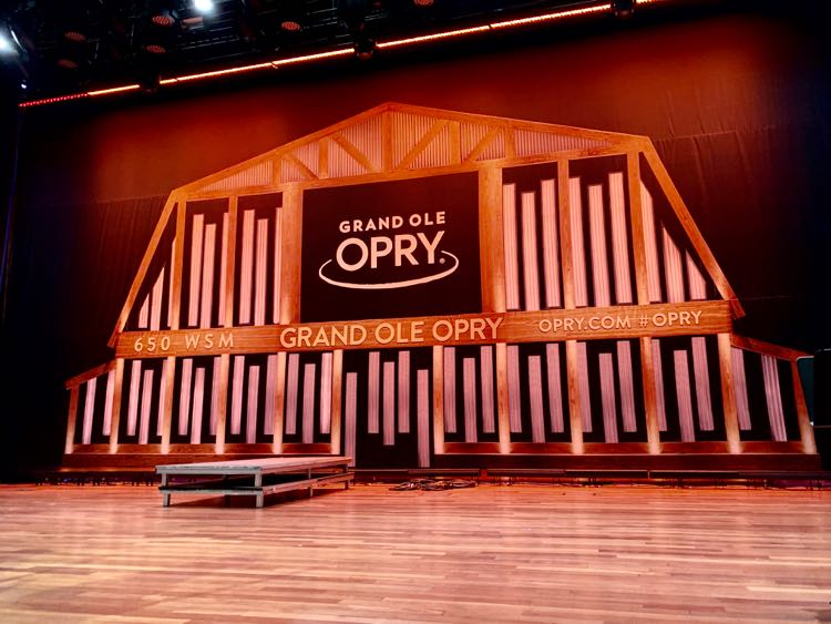 stage of Ryman Auditorium for Grand Ole Opry