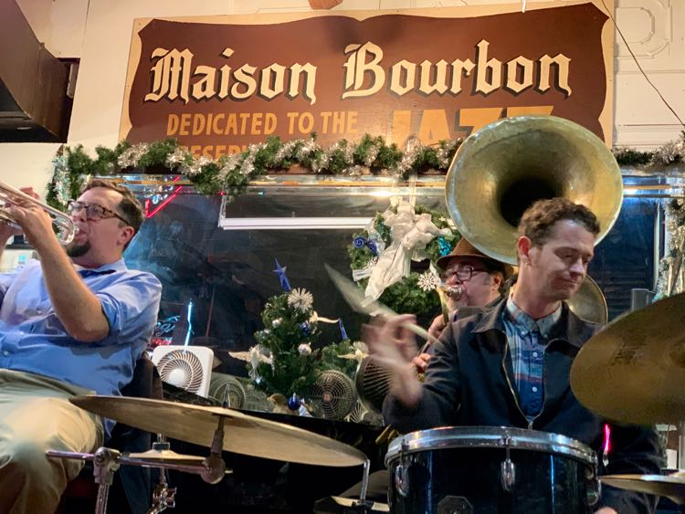 live jazz at Maison Bourbon in New Orleans