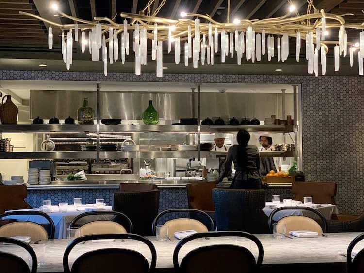 Fia Restaurant, in Atlanta Georgia, has an open kitchen