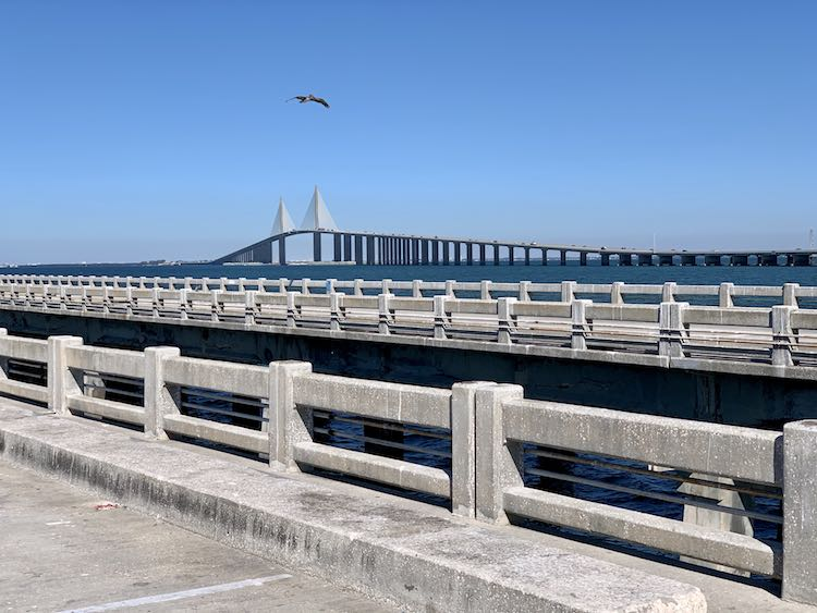 Sunshine Skyway Bridge view from the Skyway State Fishing Pier