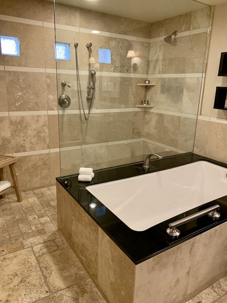 luxury bathtub and shower at Phoenix resort