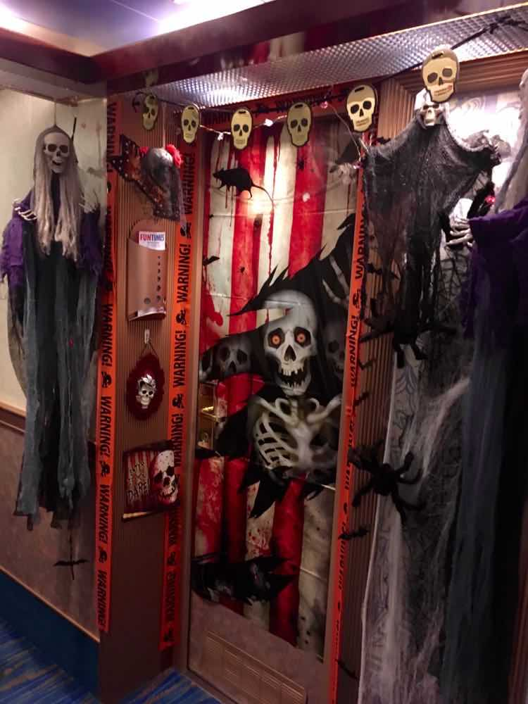 Halloween decorations on Carnival Journeys cruise