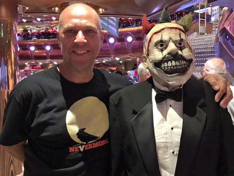 Meeting the crew members on a Halloween Carnival Cruises sailing
