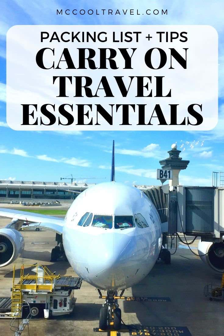 Pack travel essentials for the plane in an organized and easy to handle carry on bag, and you will save time and stress on every flight.