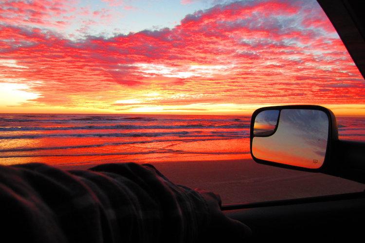 colorful sunrise on Padre Island National Seashore