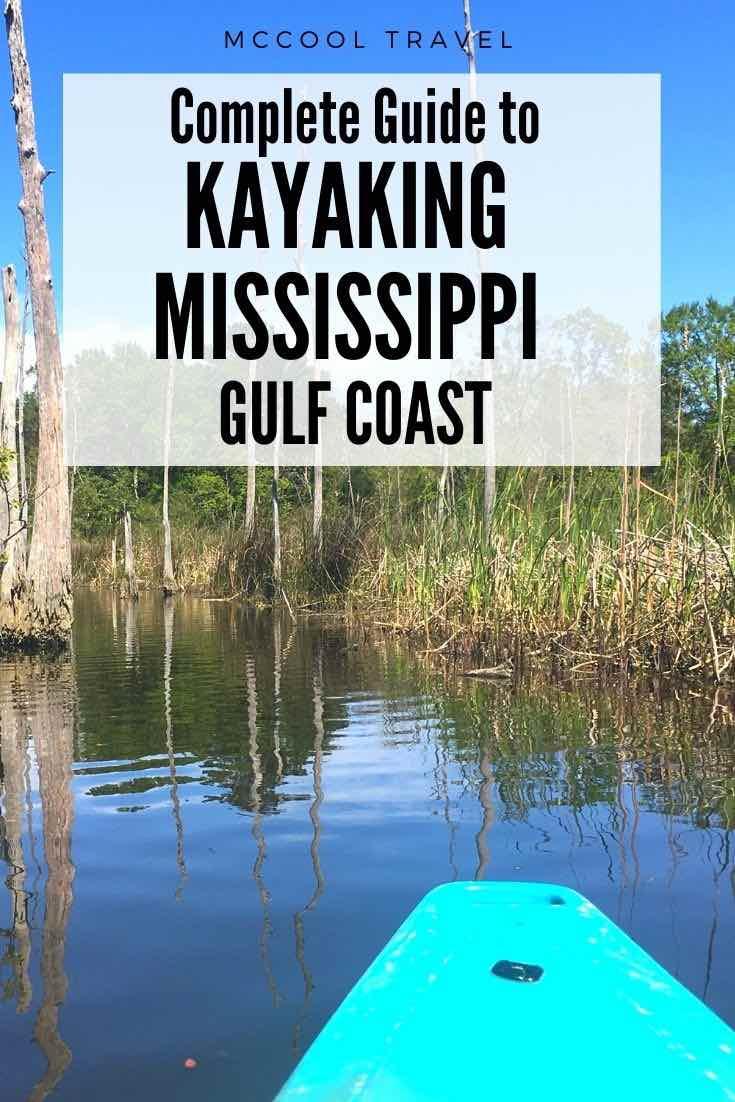 Adventurous Coastal Mississippians and Secret Coast visitors love these Liquid Road Trip spotsfor kayaking in Mississippi on the Gulf Coast. #MSCoastLife #SecretCoast #kayaking #USTravel #thingstodo