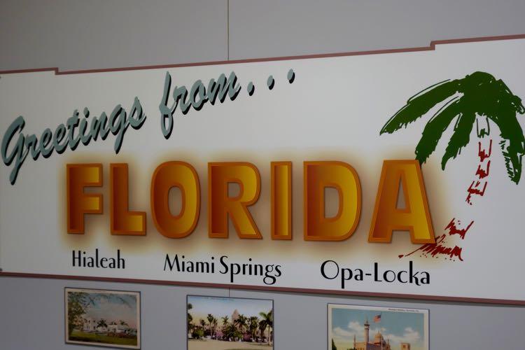 old school Florida sign of Miami hidden gems