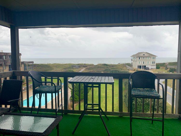 patio of OBX oceanfront condo