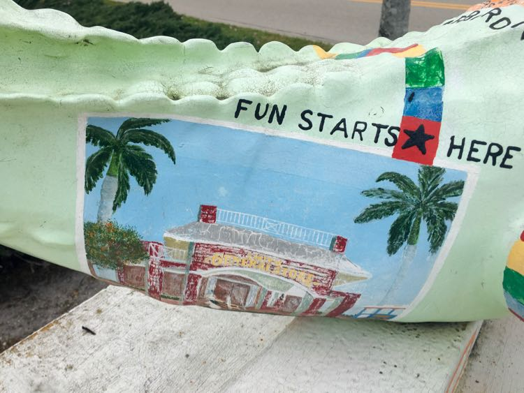 """fun starts here"" mural from Naples Florida"