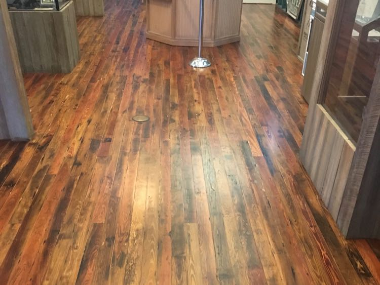 restored 1930s Dade county pine wood floor