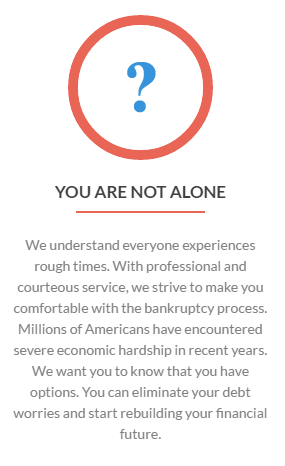 Bankruptcy You Are Not Alone Info