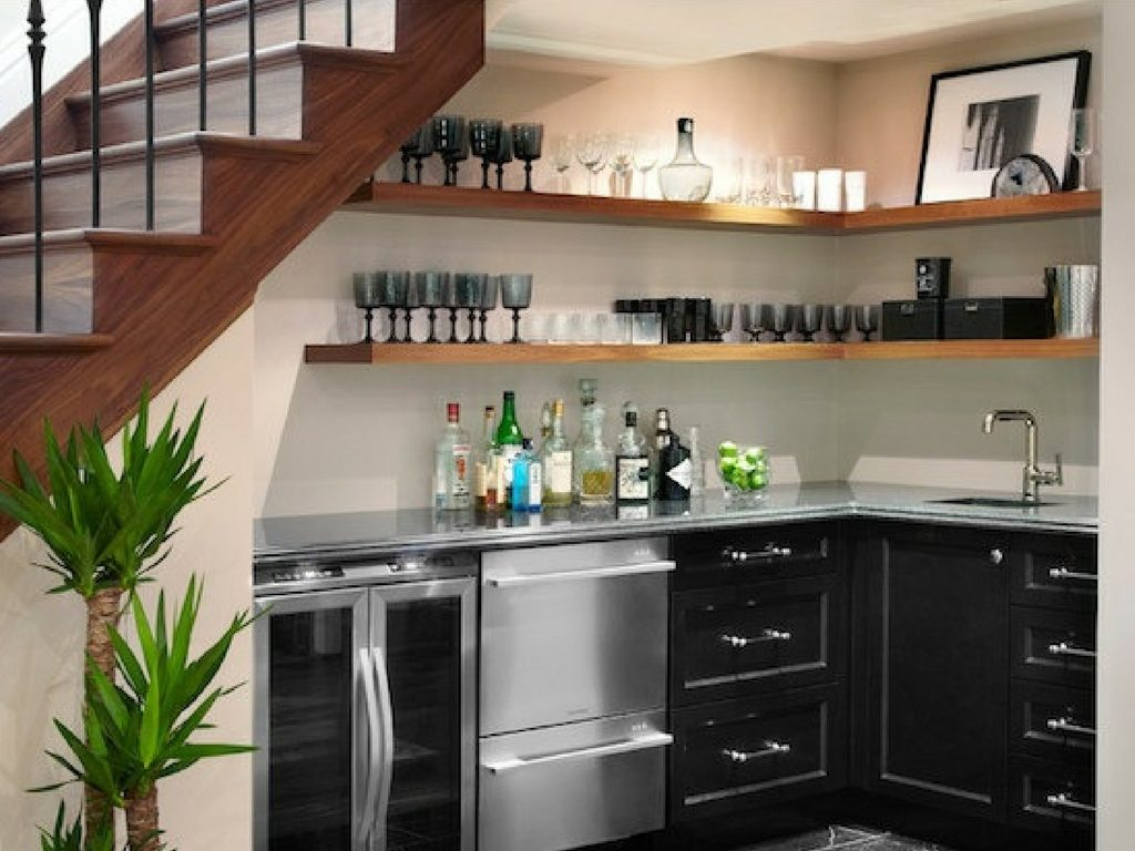 Where the Fun Is: Basement Wet Bar Ideas in St. Louis on Small Wet Bar In Basement  id=36934