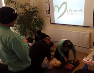First Aid course CPR practice