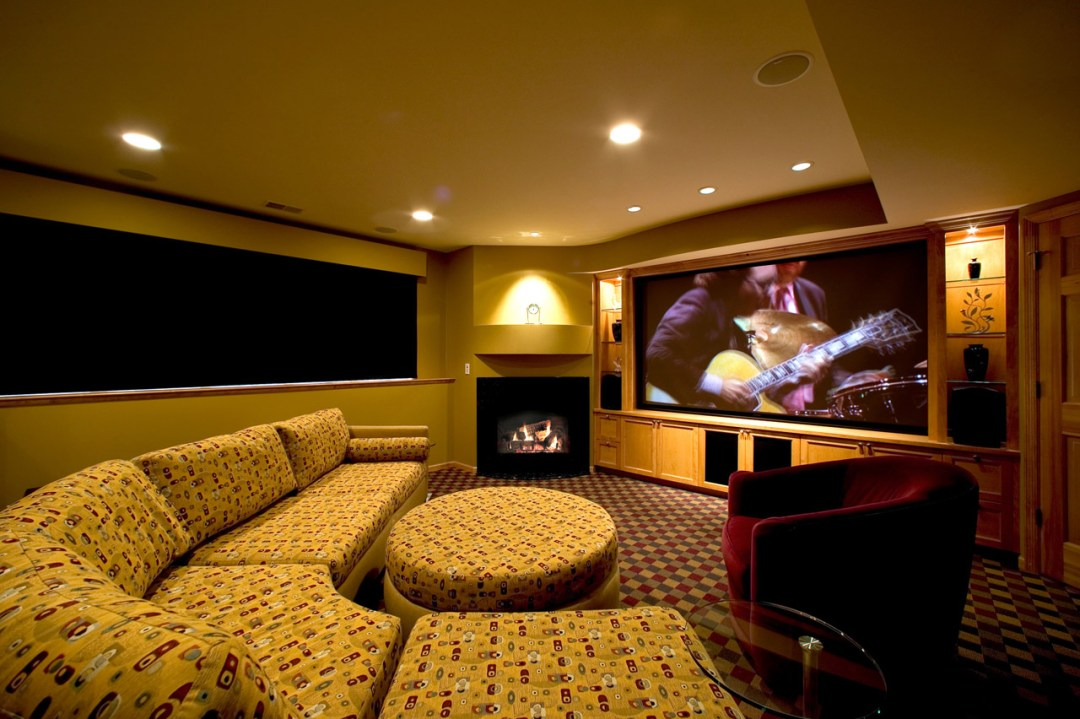 Theater room basement and lower level