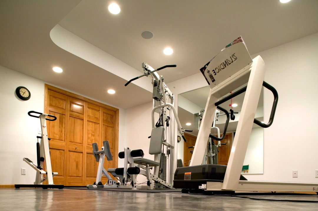 Exercise room basement and lower level