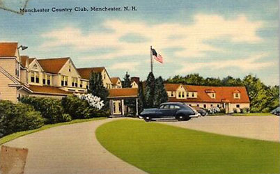 1950s Postcard of Manchester Country Club NH