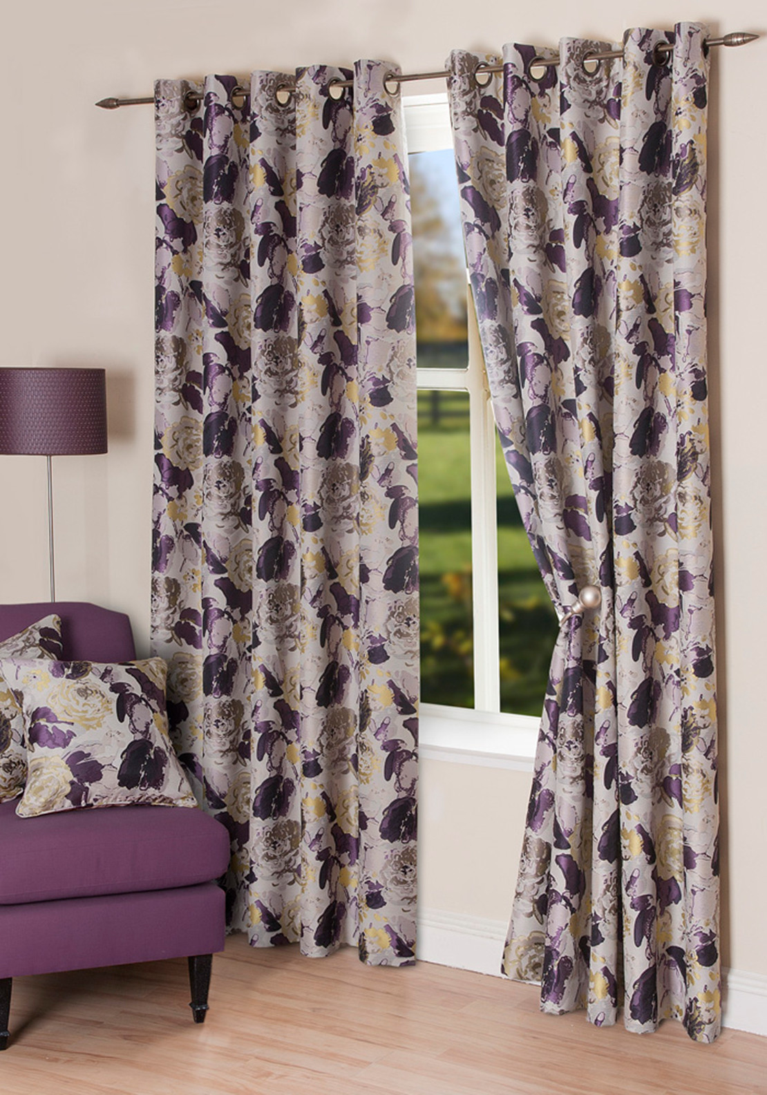 scatterbox freya floral eyelet curtains